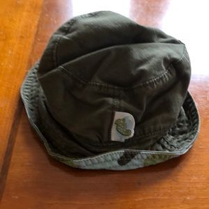 Sun hat - 0-6M green and blue camouflage